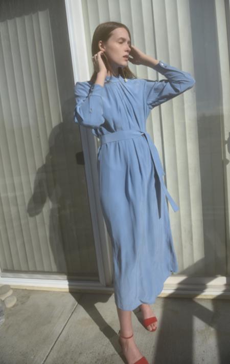 Waltz Silk Dress - Dusk Blue