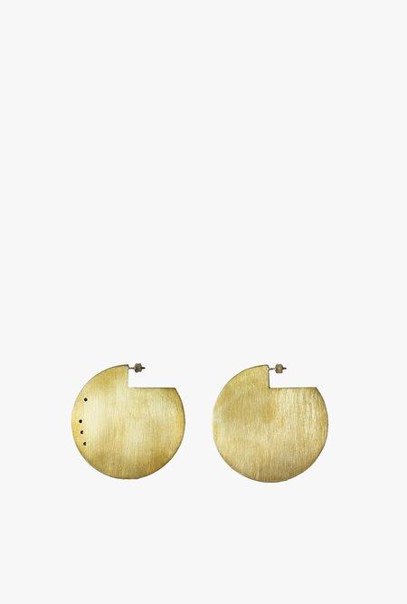 Marmol Radziner Disc Earrings - Light Brass