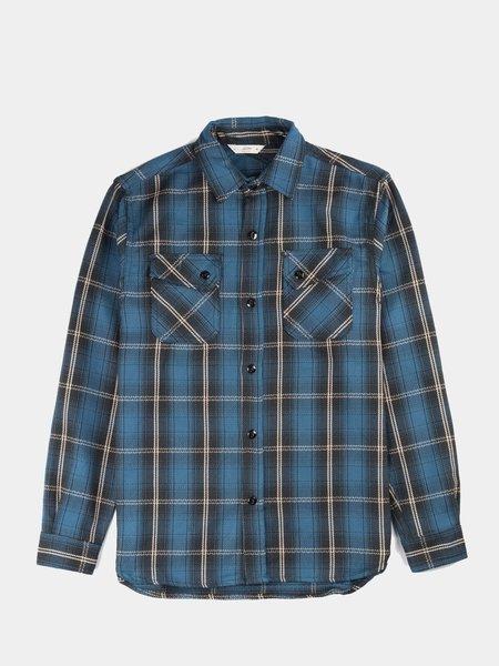 3Sixteen Crosscut Flannel Slate - Blue Plaid