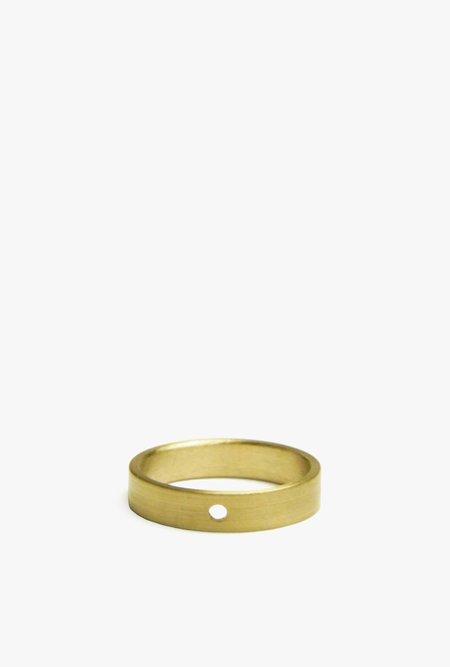 Marmol Radziner Lightweight Solid Thin Ring - Light Brass