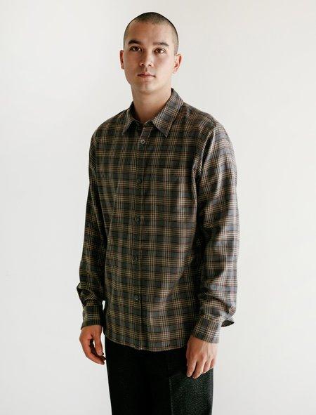 Margaret Howell Cotton Cashmere Minimal Shirt - Tartan