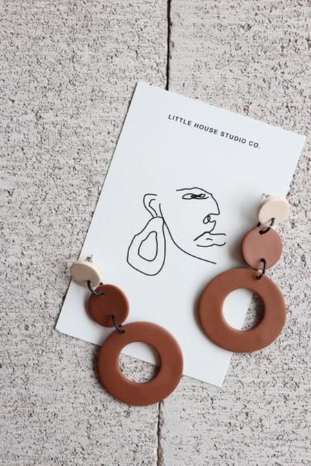 Little House Studio Co. Rowan Earrings - Camel/Natural