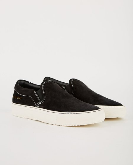 Common Projects SUEDE SLIP ON - BLACK