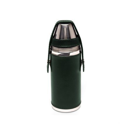 Freemans Sporting Club Ettinger 8oz Hunter's Flask With 4 Cups - Green