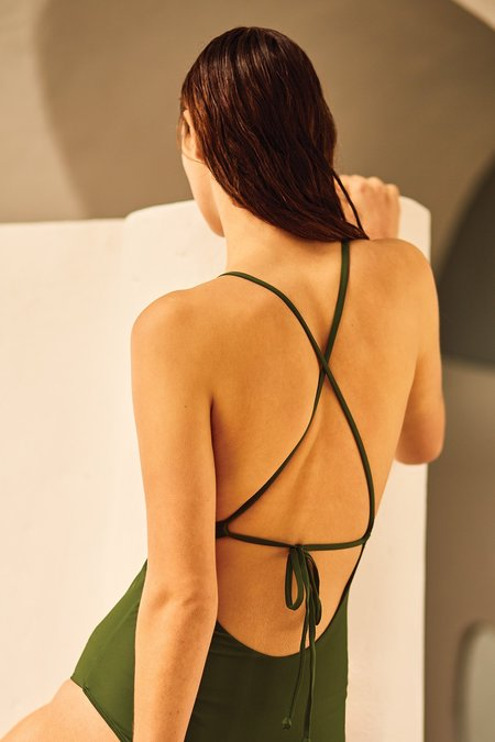 Kowtow Special Editions Tie Back One Piece - Ivy