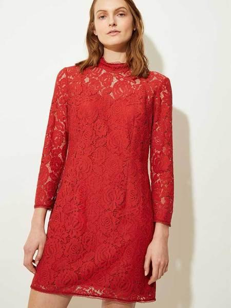 Great Plains Joni Lace Dress - Soft Amber