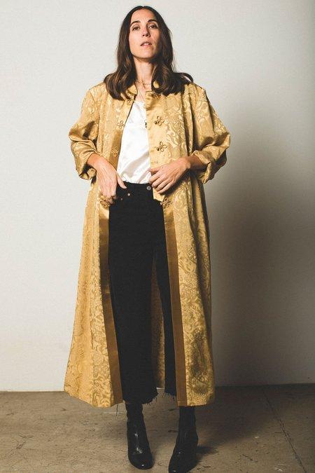 Preservation Vintage Silky Robe - Gold