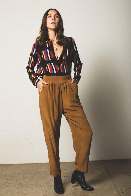 Preservation Vintage Silk Trousers - Mustard