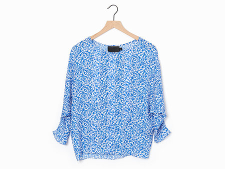 No.6 Berring Silk Top - Blue/White