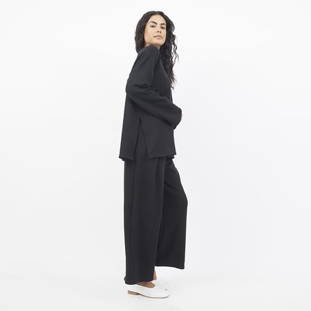 Corinne Gio Side Slits Top - Black