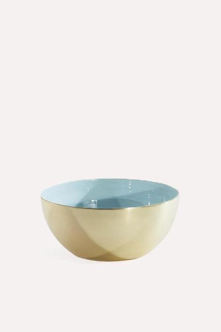 Hawkins New York Louise Brass Bowl Medium - Mint