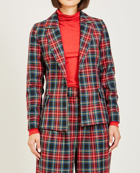 Just Female SINCLAIR BLAZER - RED CHECK