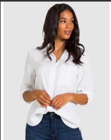 Bella Dahl Ribbon Trimmed Button Down