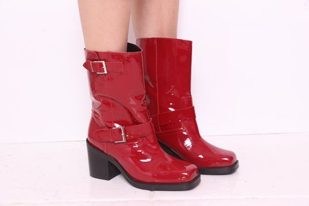 """""""INTENTIONALLY __________."""" Detroit Boot - Cherry Patent"""