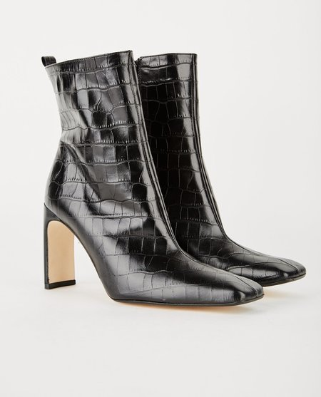 Miista MARCELLE CROC PRINTED BOOT - Black