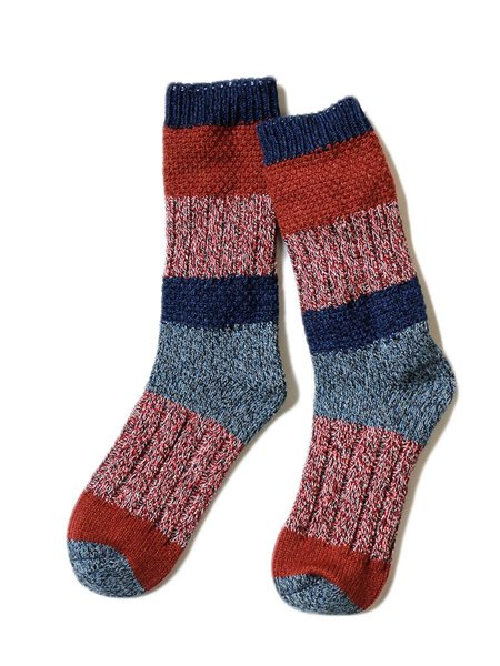 Unisex Kapital 56 Yarns Kogin Grandrelle Stretch Socks - Burgundy
