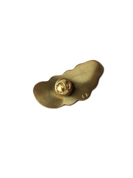 Kapital Brass Sleeping Bag Pin - Purple