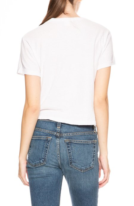 Re/Done 1950s Boxy Tee - Optic White