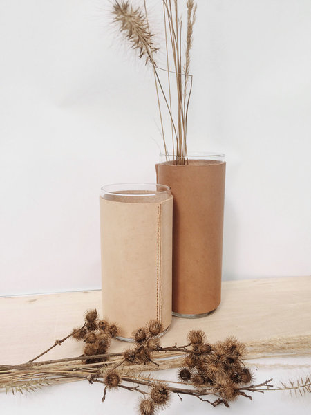 Good Medicine Small Leather Vessel - Natural