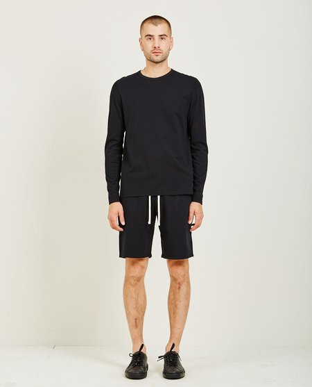 Reigning Champ COTTON JERSEY LONG SLEEVE TEE - Black