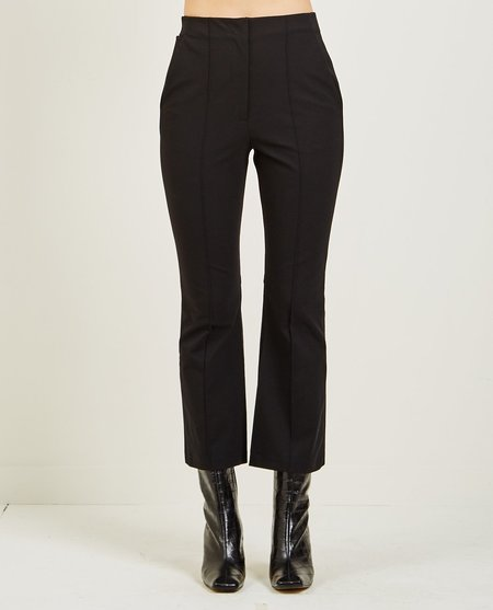 T By Alexander Wang LOGO STRETCH SUITING PANT - Black