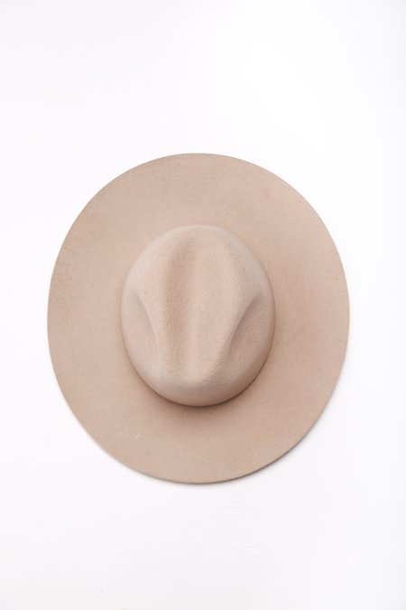 Cherevichkiotvichki Wide Brim Hat - Dirty White
