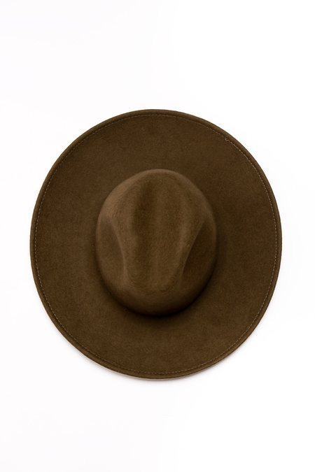 Cherevichkiotvichki Wide Brim Hat - Faded Olive