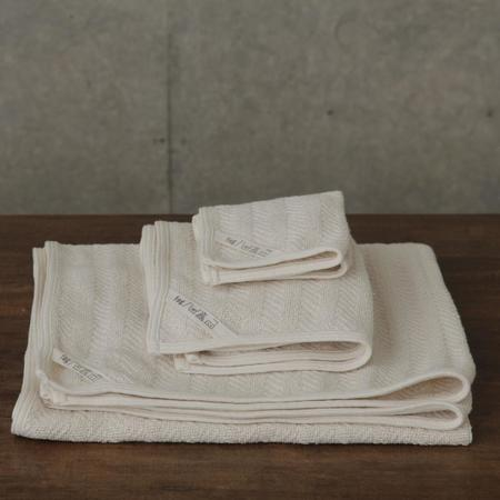 Fog Linen Herringbone Towels