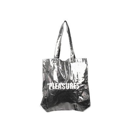 PLEASURES DAZED PLASTIC TOTE BAG - BLACK