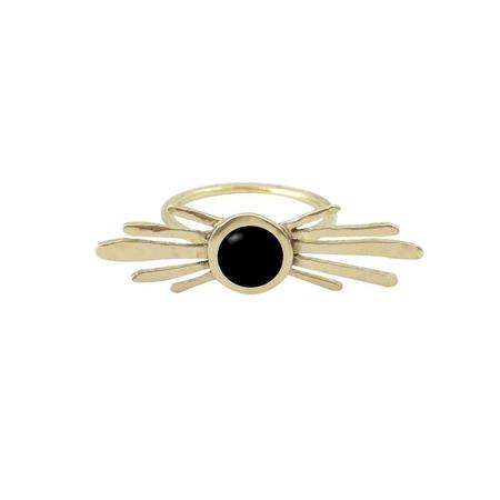 Therese Kuempel Double Burst Ring With Black Onyx - Brass