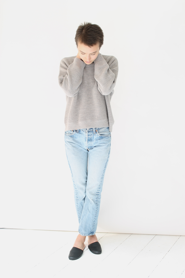 Micaela Greg ripple sweater | dove grey
