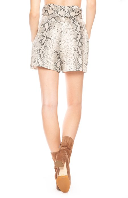 Zimmermann Corsage Belted Printed Linen Shorts - Python