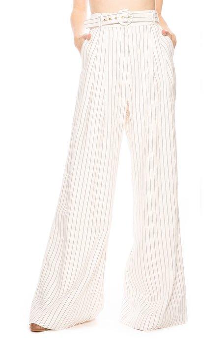 Zimmermann Corsage Tailored Stripe Pant - Natural Pinstripe