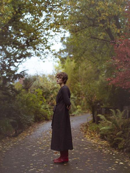 Cosmic Wonder Back Gathered Dress - Black