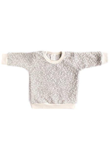 KIDS North of West Kids Pebble Knit Sweatshirt - Silver