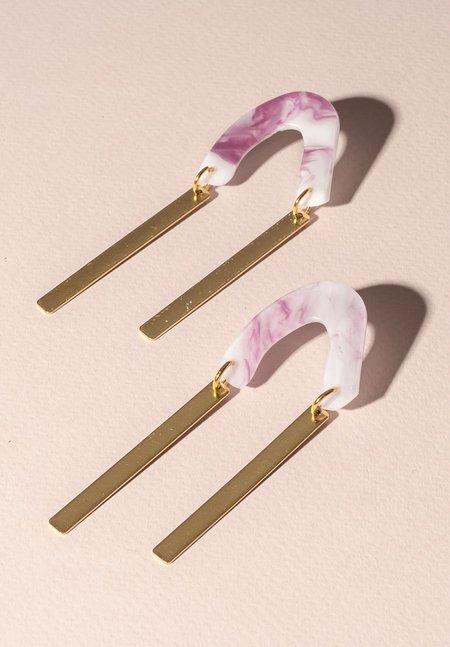One Story arc Earrings - PINK
