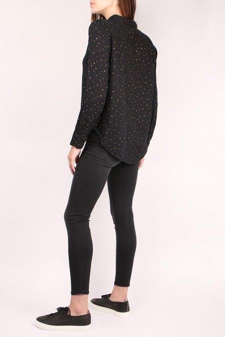 Sundry Classic Dots Button Down shirt - black