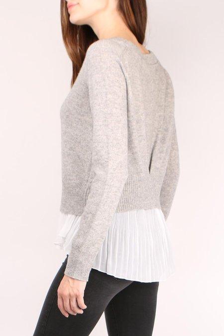 Brochu Walker Layered Plisse Pullover - Arctic Grey