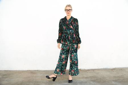 Vivetta Bamako Long and Wide Trouser - Forest Floral