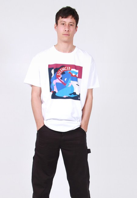 BY PARRA Mich Cover T-Shirt - white