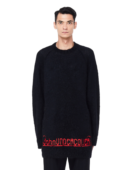 John Undercover Embroidered Wool Sweater - Black