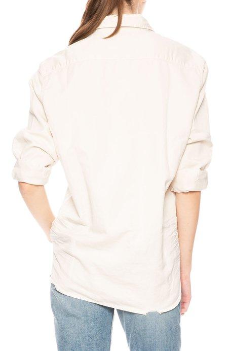 Frank & Eileen Eileen Stonewashed Button Down Shirt - Vintage White