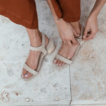 St. Agni Adalene Ankle Strap Sandal - SAND