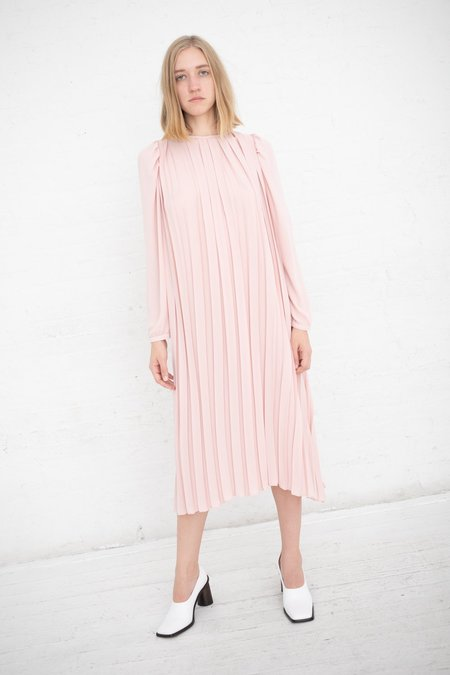 Lutz Huelle Baroque Pleats Dress - Powder