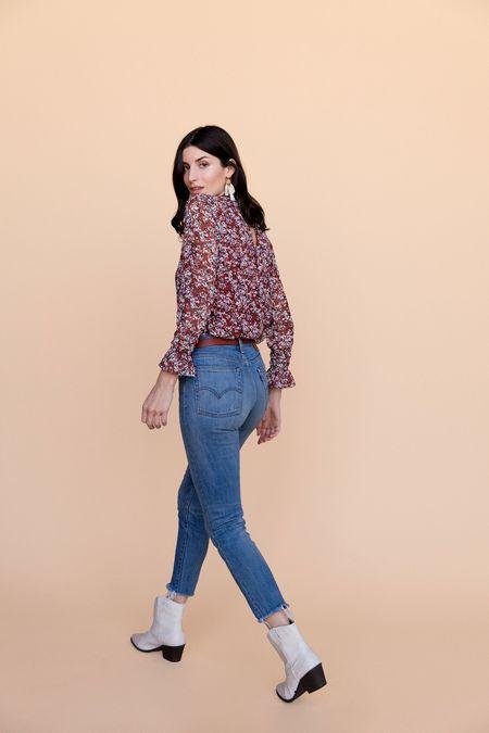 BETWEEN TEN Andi Blouse - Merlot Floral