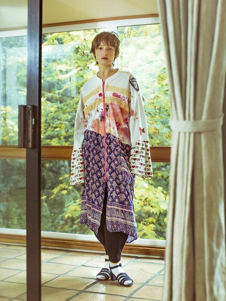 Femail Oakland Paint Zip Up Dress