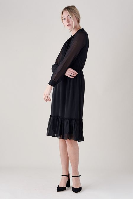 ANINE BING HANNAH DRESS - black