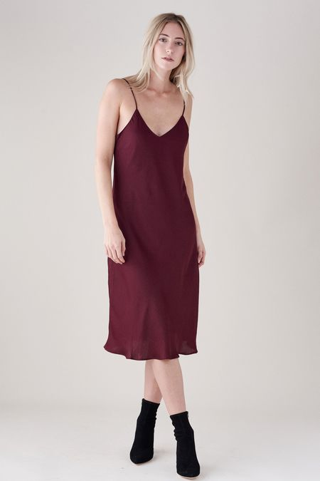 PAIGE CICELY DRESS - DARK CURRANT