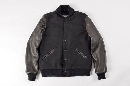 Dehen 1920 Varsity Jacket - Black
