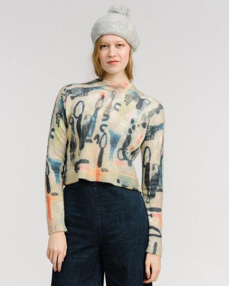 Rachel Comey Dash printed mohair pullover - emma print